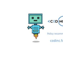 codinc policy recommendations robot and logo